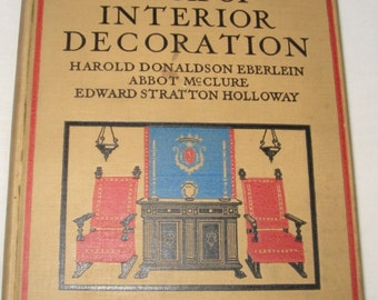 Vintage Book Interior Decoration Book Eberlein McClure Holloway 1919 HB Color and BW Plates