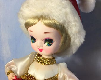 Big Eyed Mrs Claus Bradley 60's Christmas