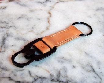 Handmade Military Style MASH Hook Leather Keychain Personalized Keyring Keyfob Custom Keychain