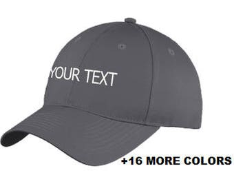 CUSTOM TEXT Baseball Hat | Custom Embroidered Hat, Custom Hat, Personalized Hat, Personalized Low Profile Hat, Your Text Here, Adult & Youth