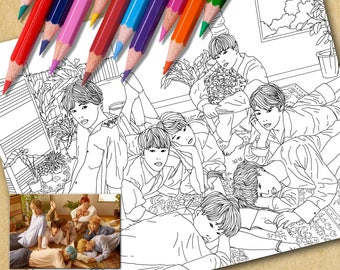 BTS Printable Coloring Page   Love Yourself (L)