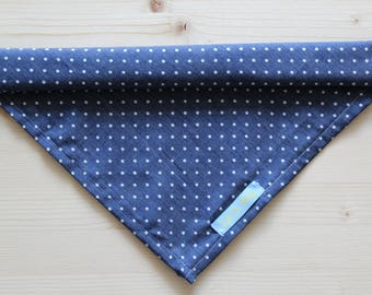 Square Bandana - Denim Dots