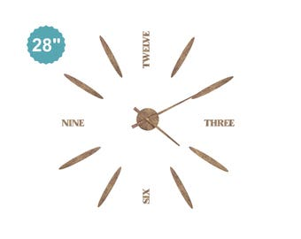 Classic Clock Large Wooden Clock Modern Home Decor Unique Wall Clock Living Room Clock Anniversary Gifts For Women Wood Wall Clock