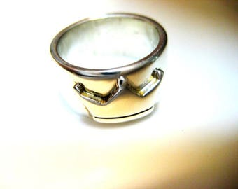 Band Ring 925 silver crown
