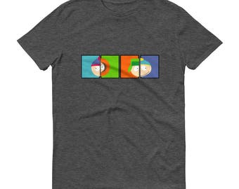 South Park Inspired T-Shirt –Cartman, Kyle, Stan & Kenny Shirt –Short Sleeve T-Shirt –South Park Cartoon