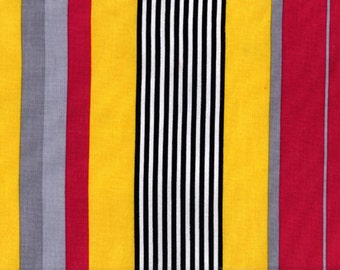Premium cotton quilting fabric by the yard, cotton stripe fabric in yellow, gray, black by Paula Prass. Need more fabric yardage? Just ask.
