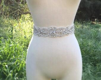 Bridal Belt, Bridal Sash, Bridesmaid Belt, Sash Belt, Rhinestone Belt, Pearl Crystal Sash, Wedding Dress Belt, Great Gatsby Wedding