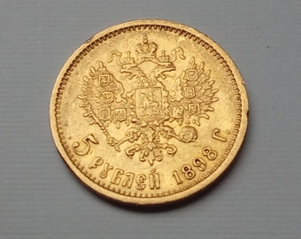 5 ruble gold coin 1898