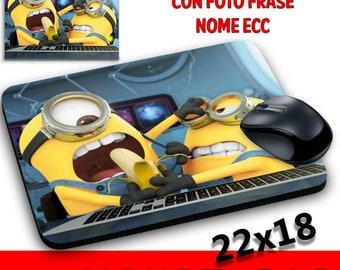 Pad Mouse Pads Customizable collection Minions deranged me Bob Stuart Kevin Banana deranged me