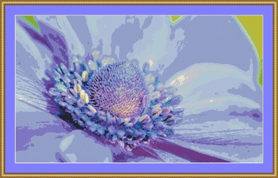 Anemone Cross Stitch Pattern /Digital PDF Files /Instant downloadable