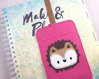 Hedgehog Pen Holder planner band -planner accessories-pen pocket holder- bullet journal tools