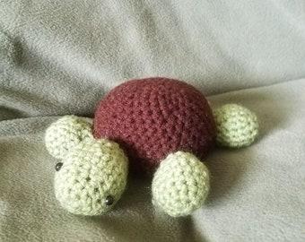 Crocheted Stuffed Toy Turtle