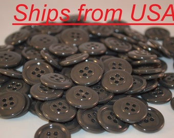 """100 3/4""""  Gray Plastic Buttons