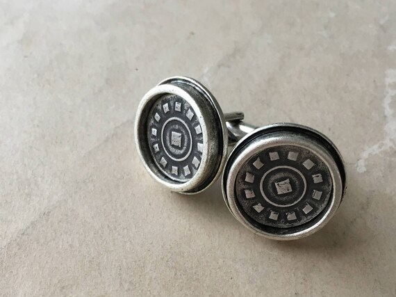 Silver Cuff Links, Father of the Bride Cuff Links, Suit Accessories