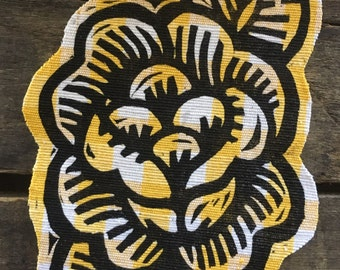 Rose Patch, Woodcut