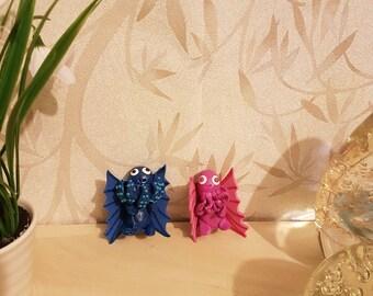 Cthulu Fridge Magnets, Cthulhu Statue, Cthulhu Model, Cthulhu Ornament, Cthulhu Decoration, Fimo Fridge Magnet, Polymer Clay Fridge Magnet