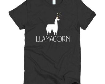 Magical Llamacorn Unicorn Llama Short sleeve women's t-shirt