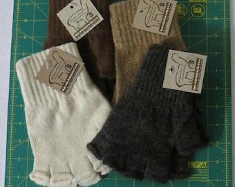 Alpaca Fingerless Gloves Small