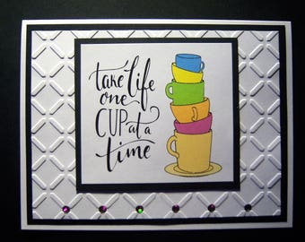 Stack of Cups Encouragement Card