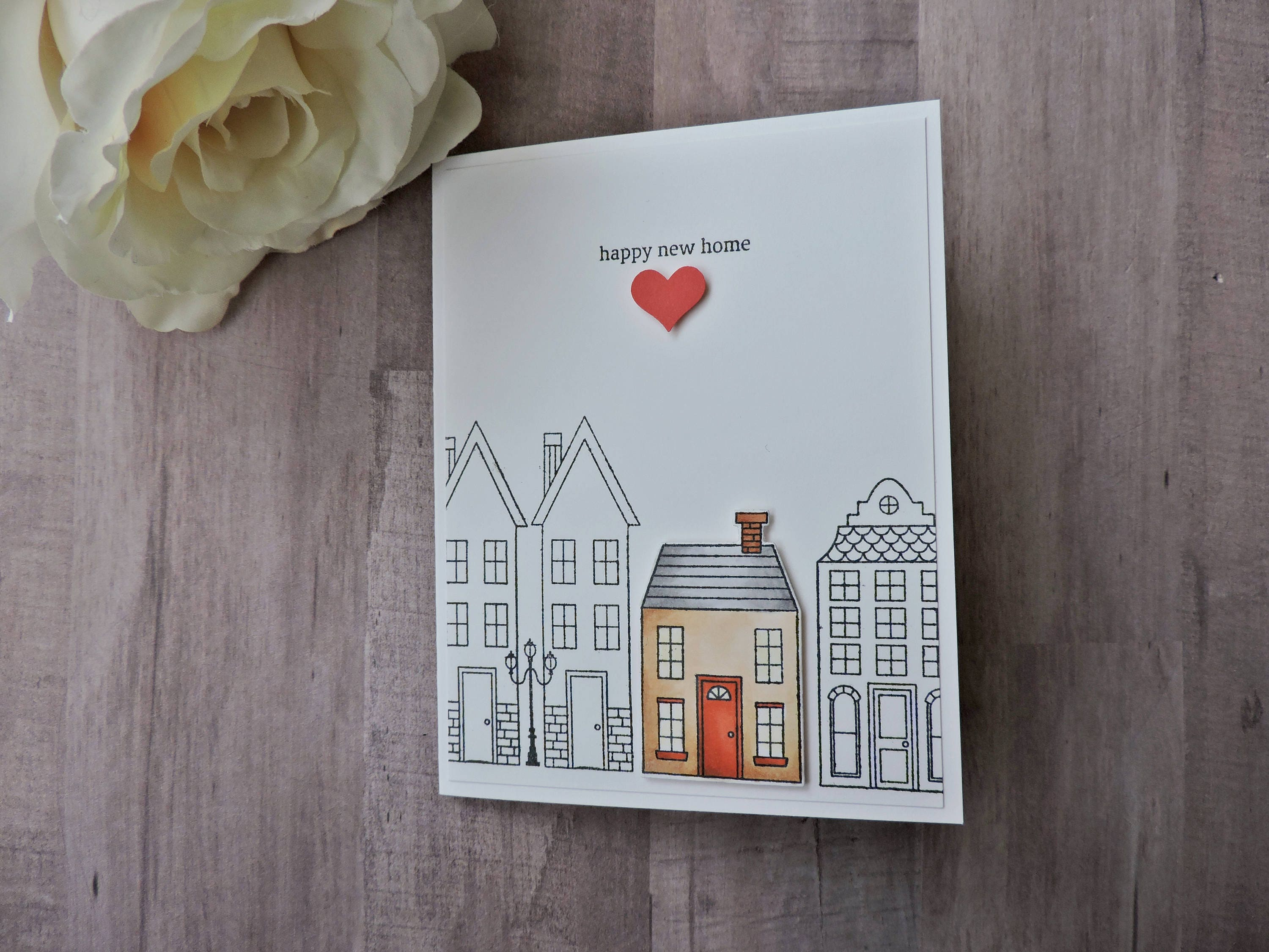 Happy new home housewarming card with envelope zoom kristyandbryce Image collections