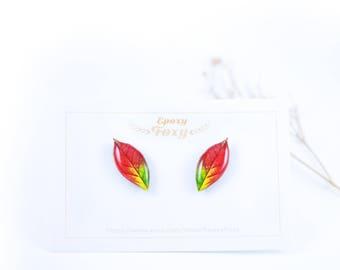 Autumn leaf earrings Autumn leaves jewelry Fall earrings Fall jewelry Nature jewelry Fall leaf earrings Fall gift idea Fall lover gift