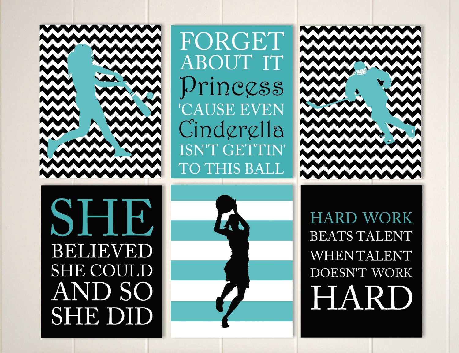Inspirational Quote Art Girls Quotes Wall Softball Girl