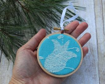 Keepsake Ornament, Christmas Ornament, Wooden Ornament, Stocking Stuffer, Babywearing gifts, Wrap Scrap Ornament, Woven Wrap