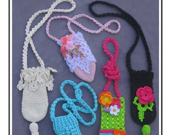 "Crochet cell phone holder ""Cell Phone Cozy"" Annie Potter Presents"