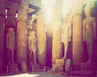 Luxor Temple - Egyptian photograph, fine art photo, travel photography, Africa, archaeology, neutral decor, ancient Egypt