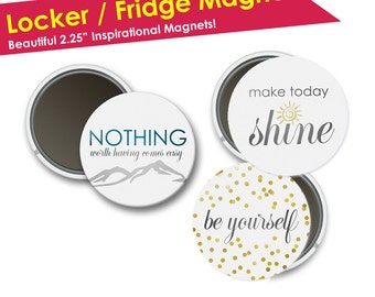 Locker Decorations- Locker Magnets- Refrigerator Magnet- Message Board Magnets- Locker Accessories- Inspirational Magnets- Back to School