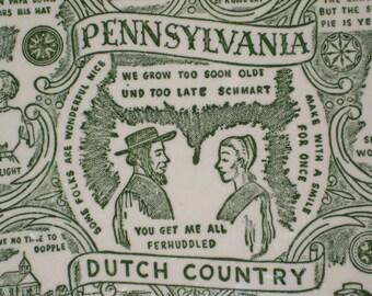 Pennsylvania Dutch Plate and Towel
