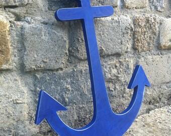 Anchor Decor, Nautical Decor, Wooden Anchor