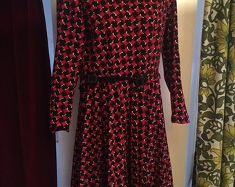Vintage black and red dress