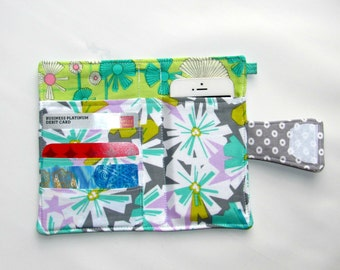 Cellphone Wallet, iPhone Wallet, iPod Wallet, Cellphone Case, Business Card organizer, Loyalty card wallet, Gift Card Holder