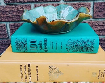 Pretty handmade ceramic catch-all bowl
