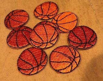 "7/8"" Basketball Appliqué Iron On"