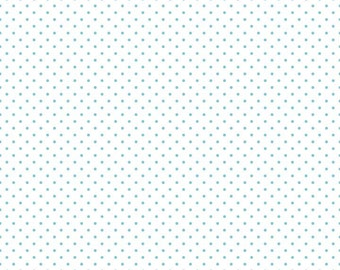 Riley Blake Designs, Swiss Dots Aqua on White (C660 20)