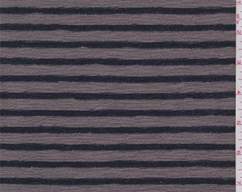 Dark Taupe/Navy Stripe Sweater Knit, Fabric By The Yard