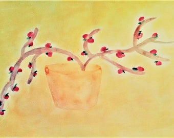 NEW BERRIES - Painting, impressionism, water color