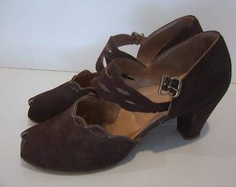 Peep Toe Pumps - Larsonette 1940's