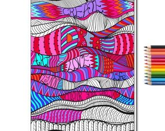 Create & Colour Colouring Page, Vector PDF File.