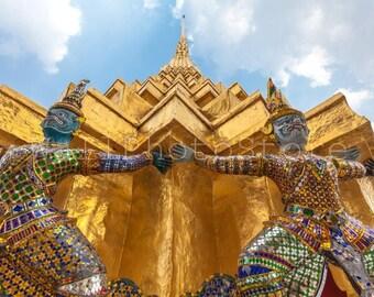 Thailand King's Palace, Bangkok, Temple of Emerald Buddha, Thailand Photography, Travel Photography, Wall Art Print, Fine Art Photography,