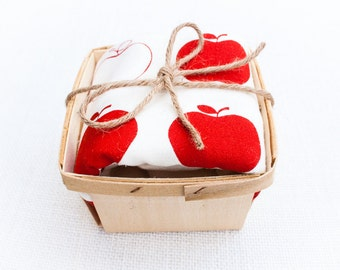 Red Apple Flour Sack Dish Towel