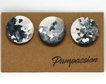 Trio of mini art magnet