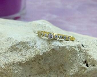 SALE! Alexandrite band,eternity ring,lavender ring,lilac stone ring,bezel set,june birthstone,gold ring,engagement ring