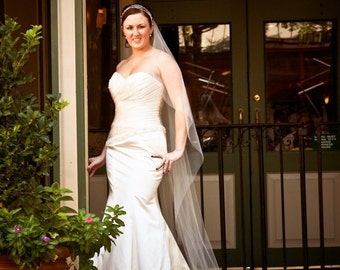 Cascading Cathedral single layer  custom veil