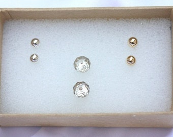 Studs Earrings - Simple everyday Studs Earrings  - 14k Gold Filled or Silver - Ball Posts - Small  Tiny Studs - Small Round Gold Earrings