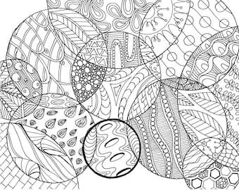 circle tangle coloring page