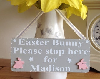 Personalised Easter Bunny Sign