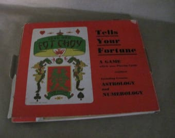 Vintage Gong Hee Fot Choy Fortune Telling Game, 1940's Chinese Fortune Telling Game, Cards, Astrology Game